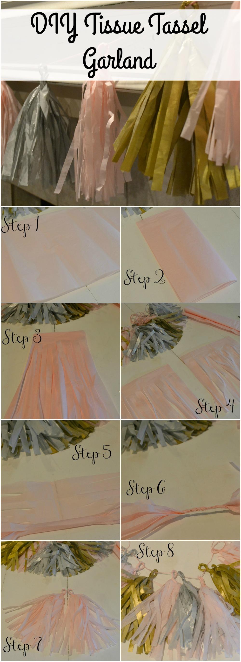 Tissue Tassel, Banner, Garland, Tissue, Party Banner, DIY