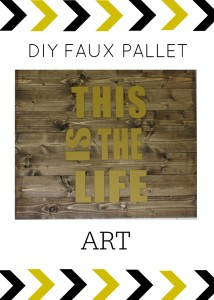 DIY Faux Pallet Wall Art