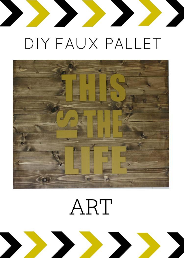 DIY Faux Pallet Wall Art