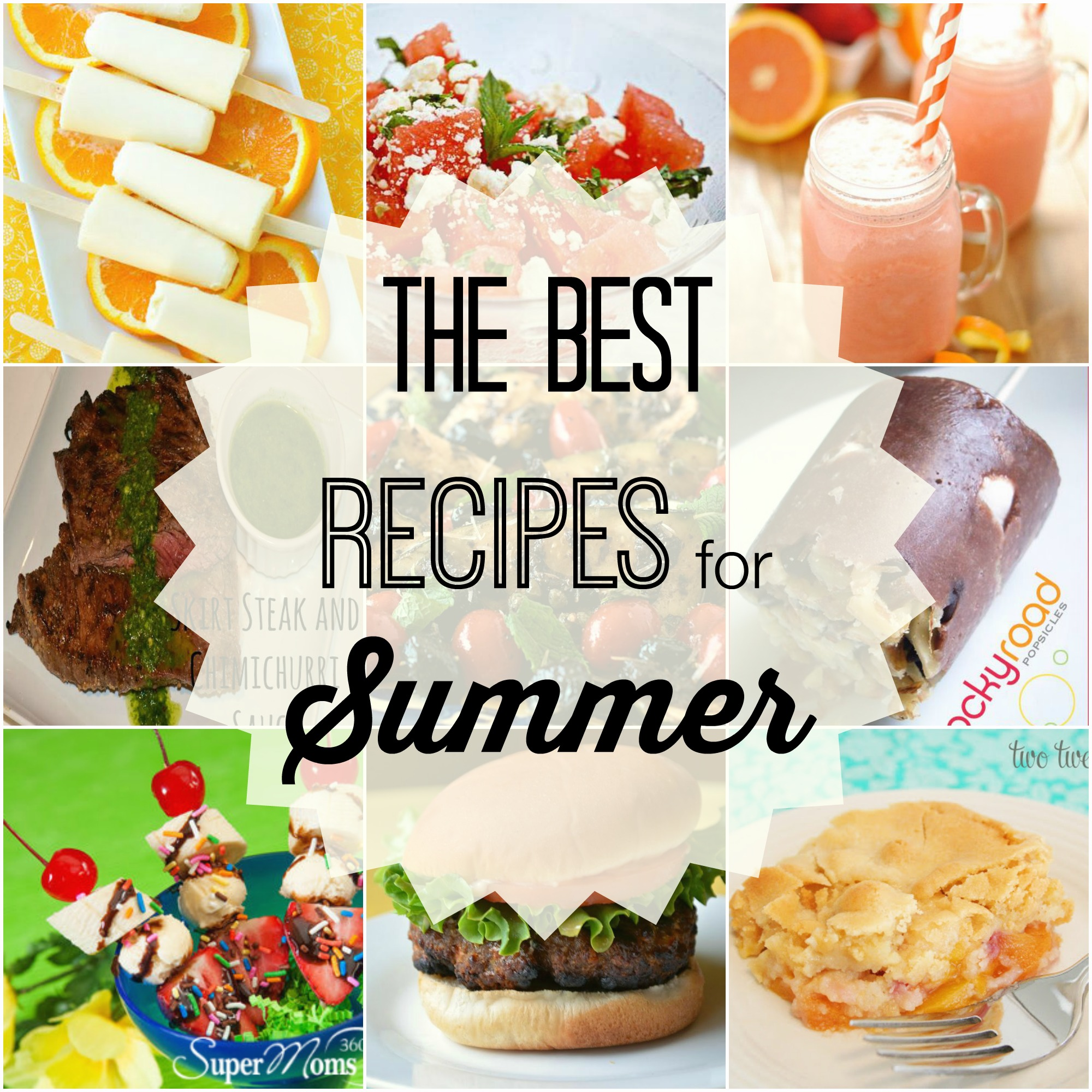 Summer Recipe Collage 2