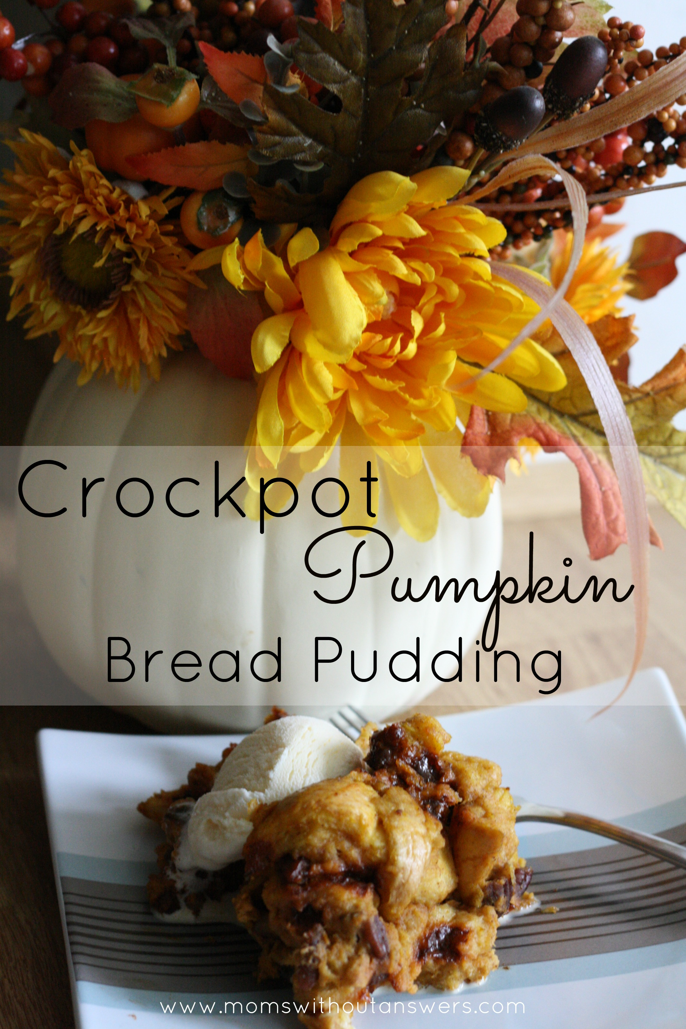 Crockpot Pumpkin Bread Pudding