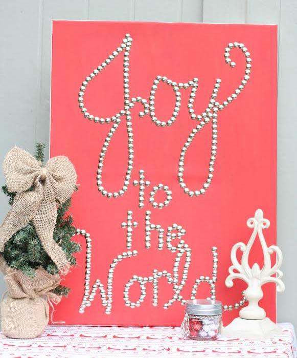 Joy to the World Thumb Tack Wall Art