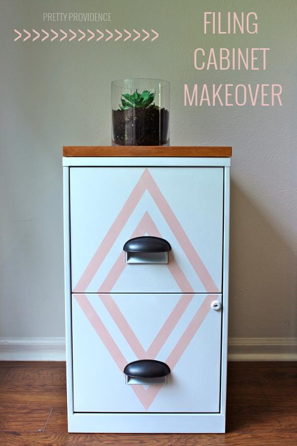 Creative Decorated File Cabinet  Cute Ideas  Pinterest