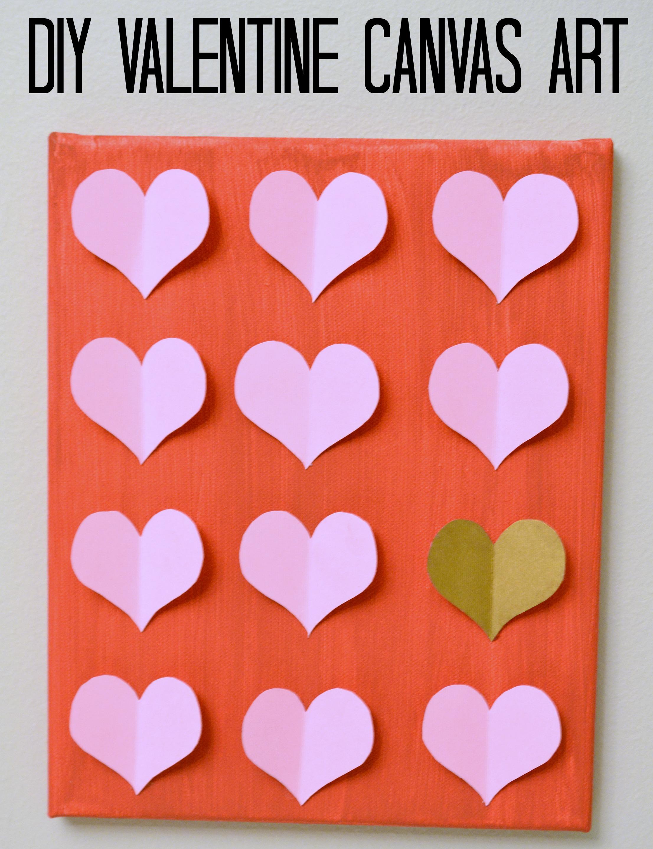 DIY Valentine Canvas Art 3