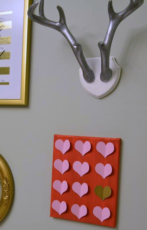 DIY Valentine Canvas Art Gallery Wall