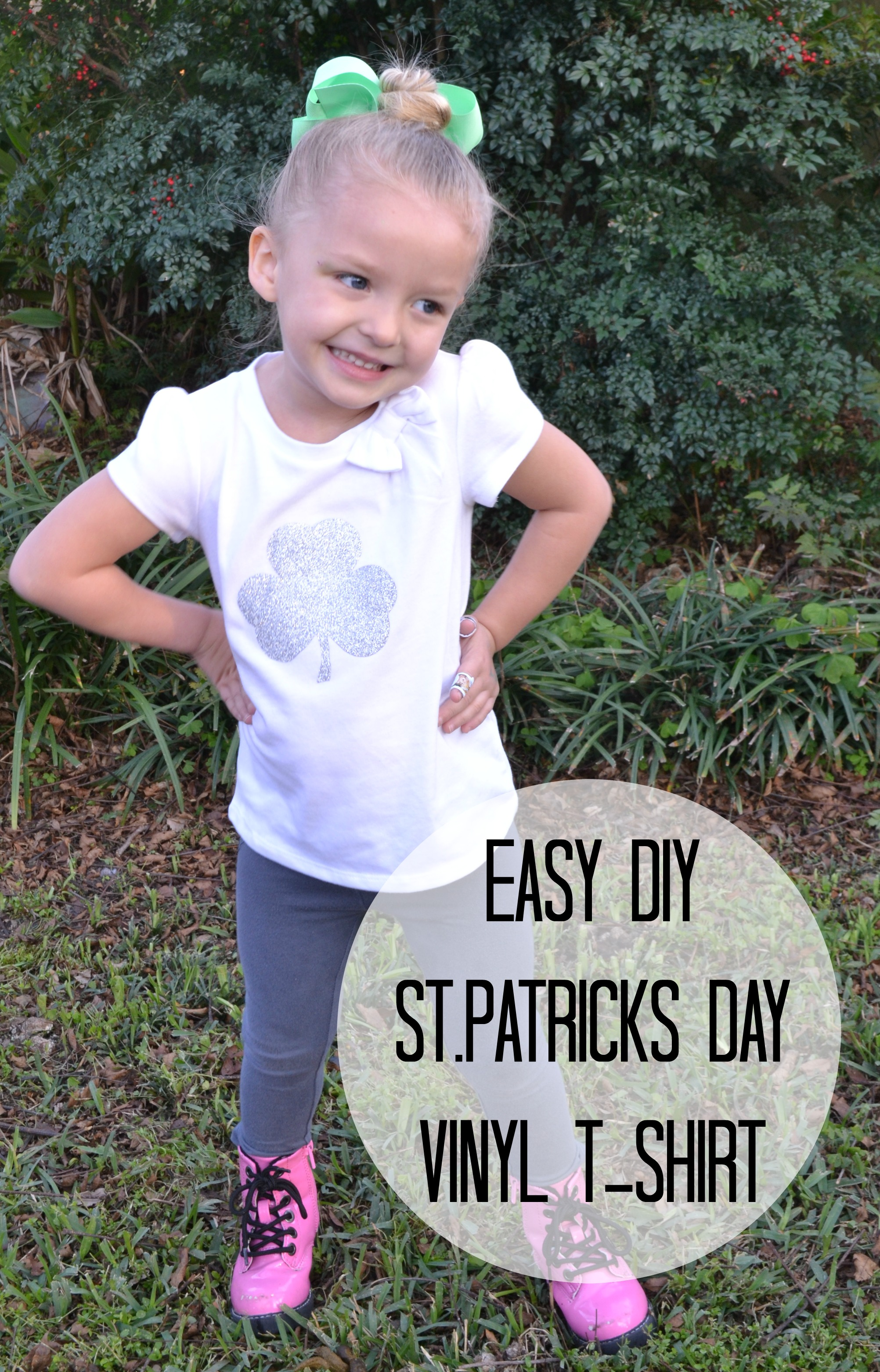 Easy DIY St.Patricks Day Vinyl T-shirt