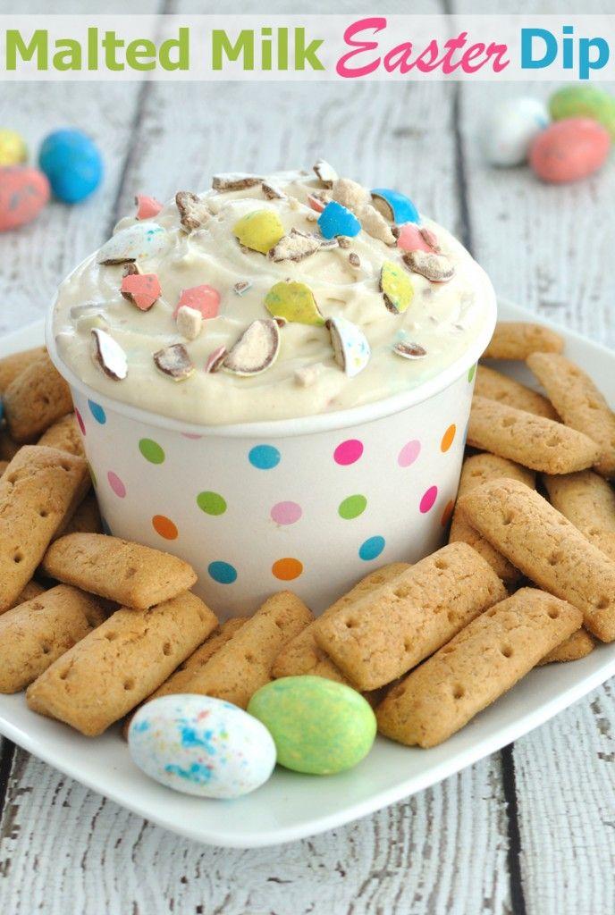 Malted Milk Easter Dip