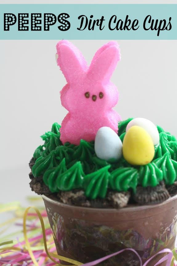 Easter Bunny Peeps Dirt Cake Cups