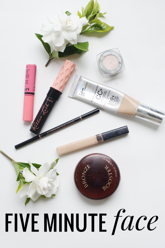 Five Minute Face - Product recommendations and tips/tricks on perfecting your makeup routine when you're short on time!