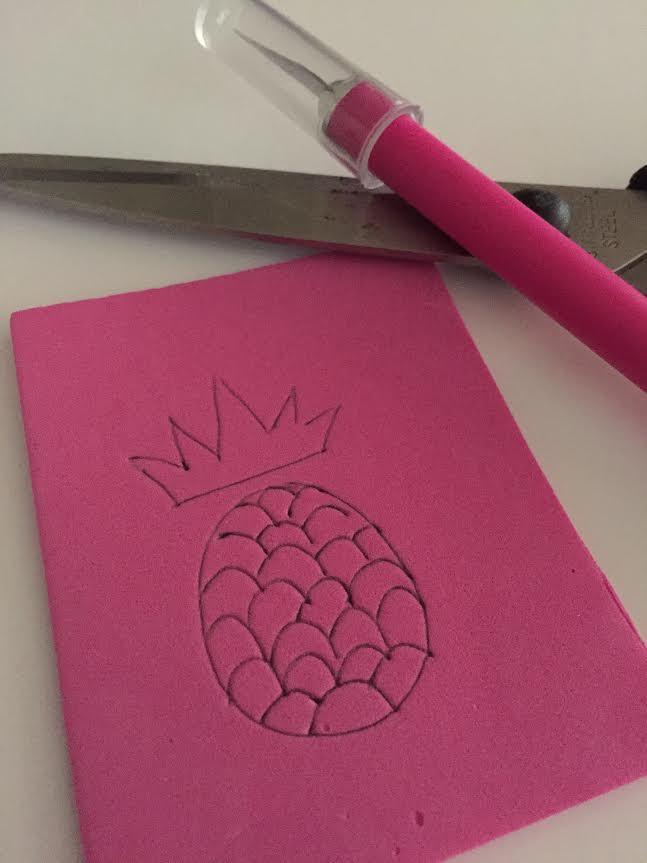 DIY Pinapple Stamp