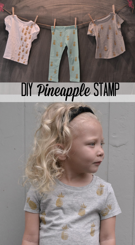 DIY Pineapple Stamp