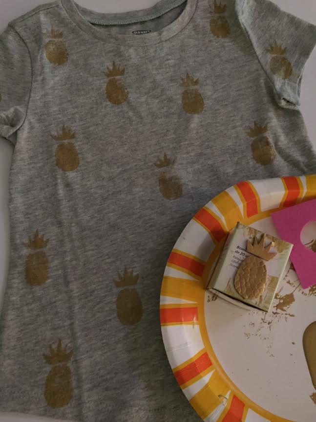 Pineapple Shirt and Stamp