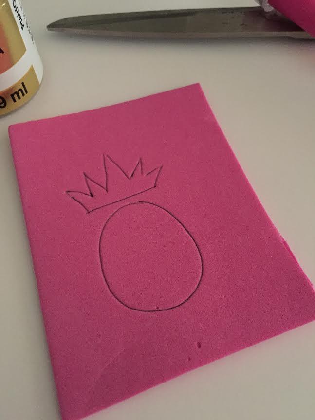 Pineapple Stamp Step 1
