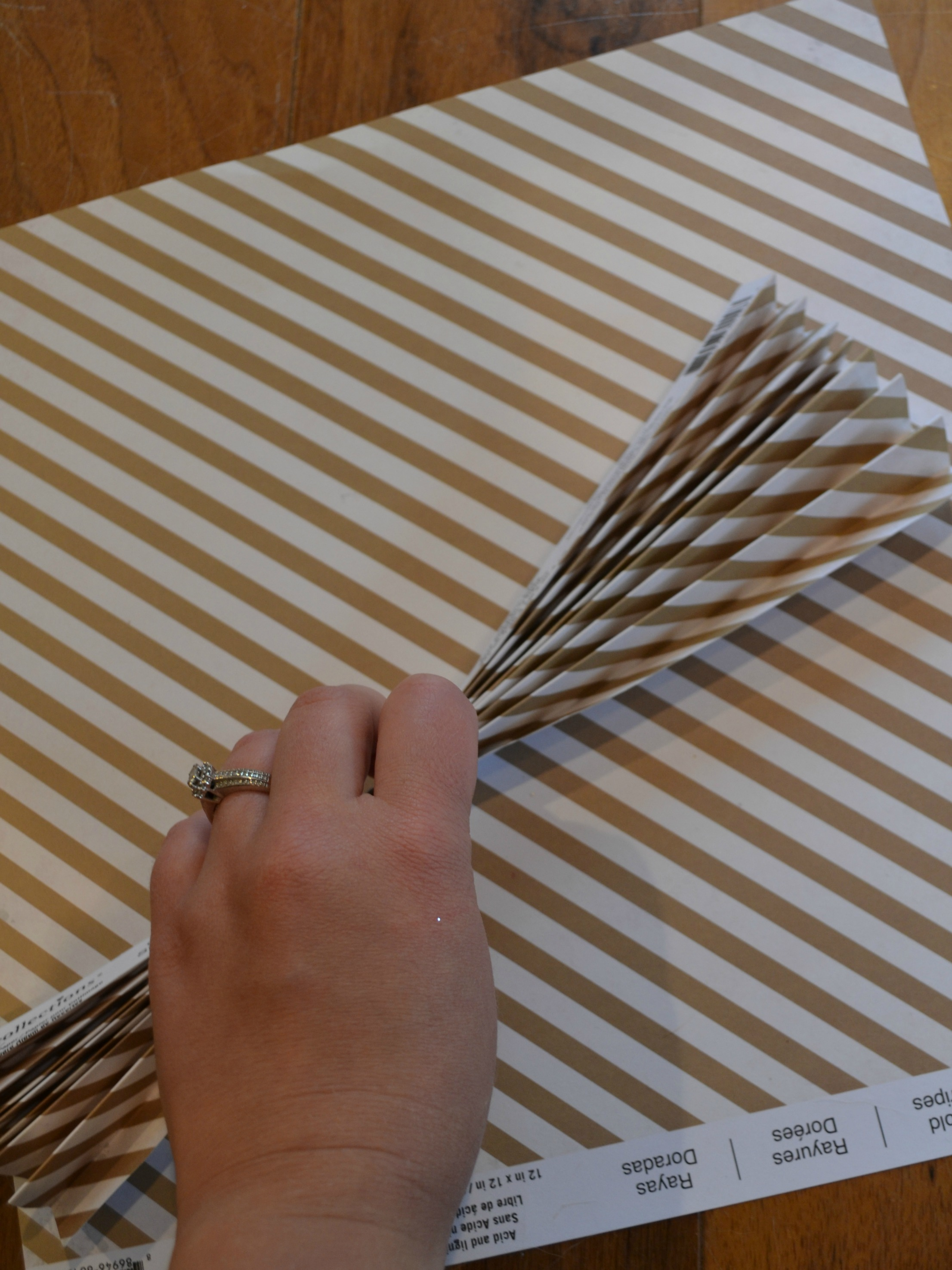DIY Paper Fan Step 1