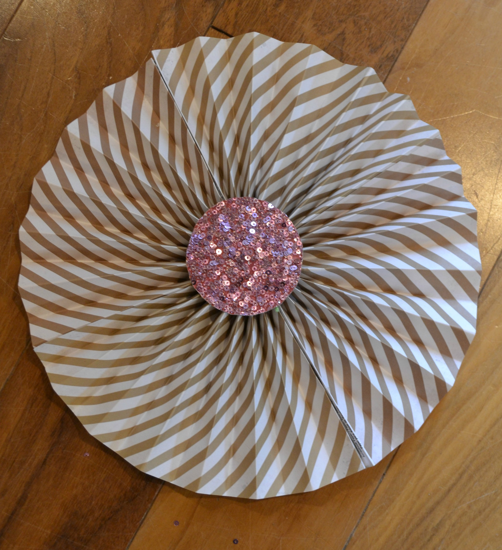 DIY Paper Fan Step 4