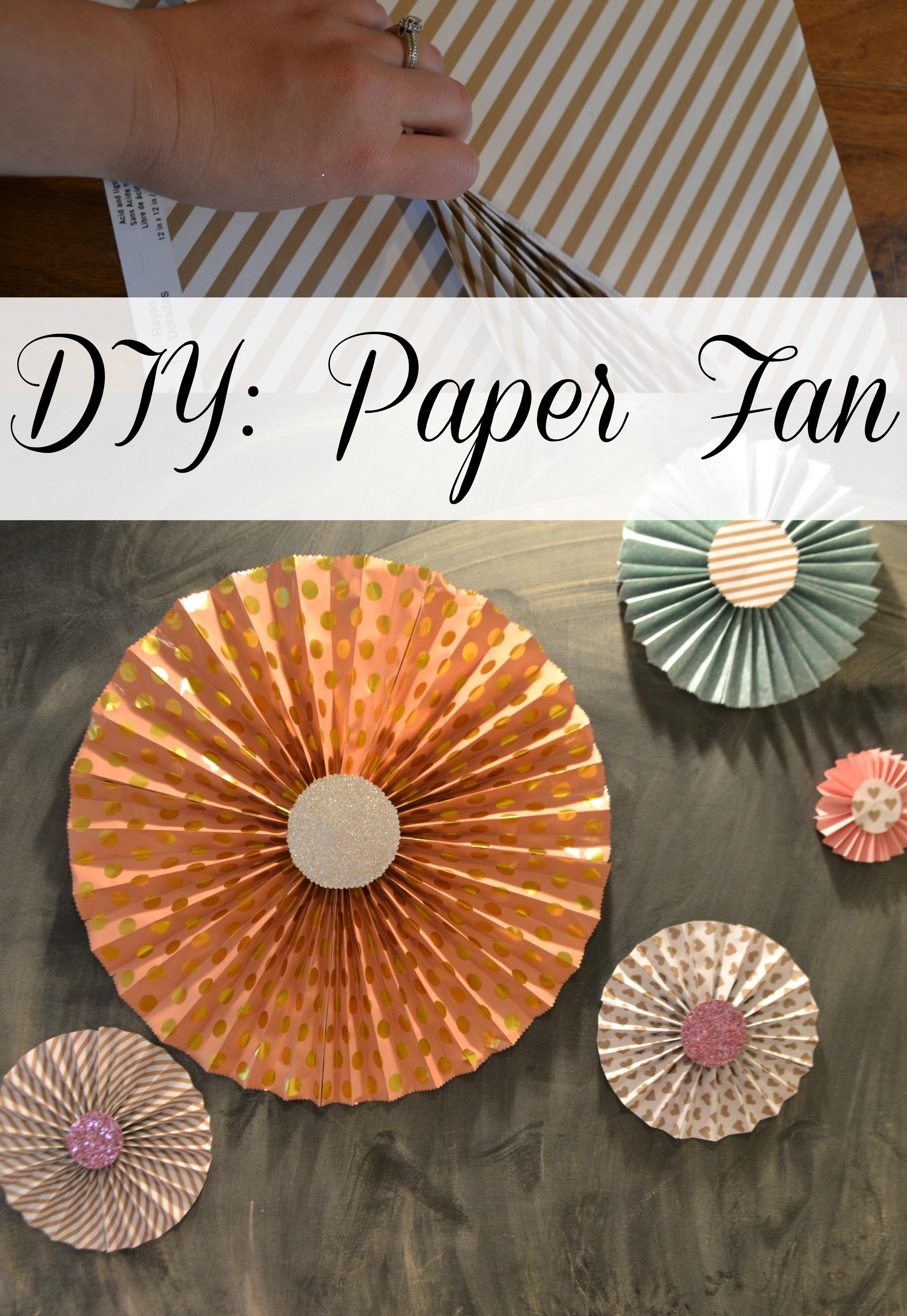 DIY Paper Fan