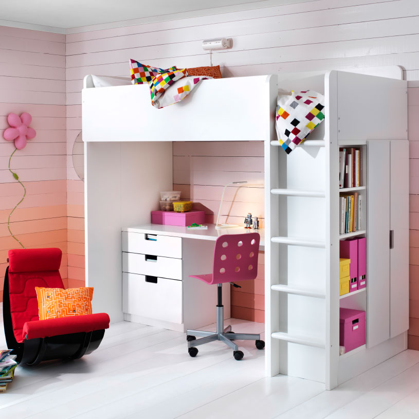 Ikea Loft Bed with Storage