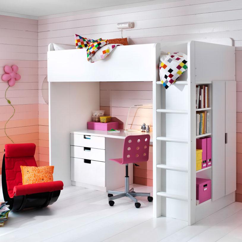 Ikea Loft Bed with Storage