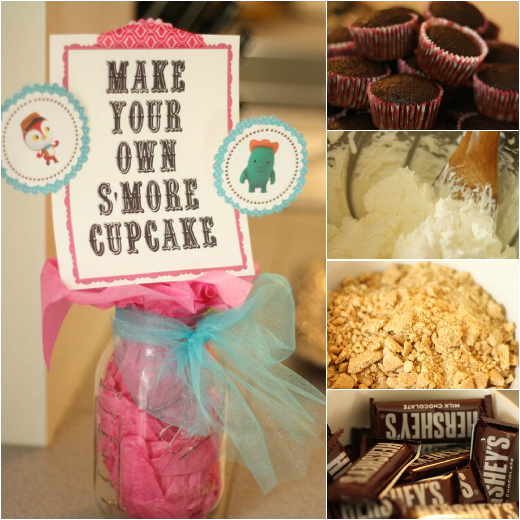 Make Your Own S'more Cupcake