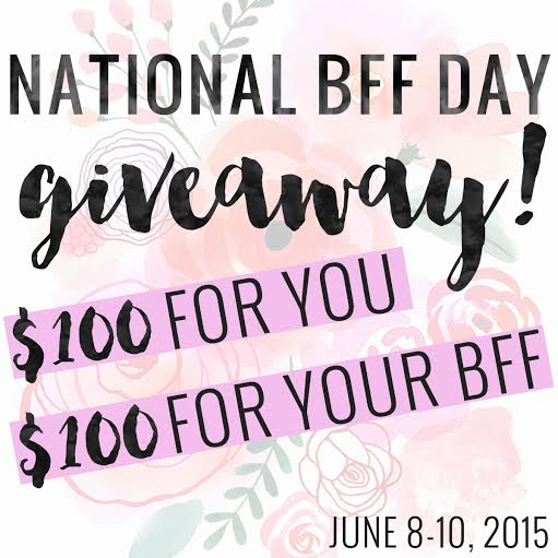 National BFF Day Giveaway