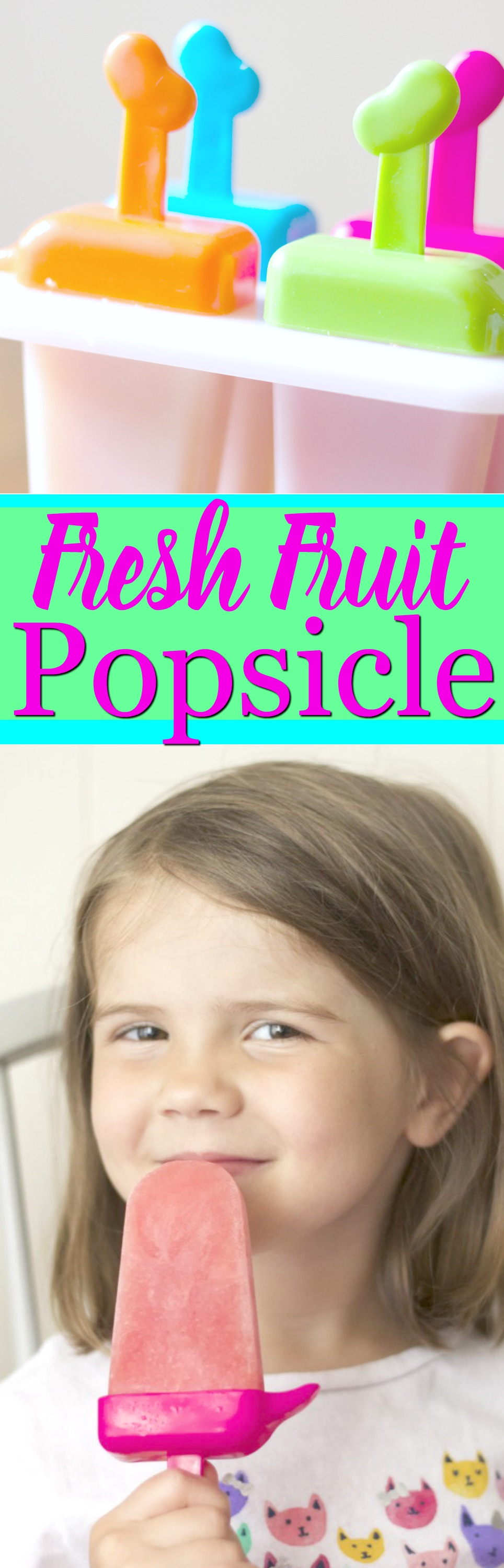 Fresh Fruit Popsicle- Stawberry and Peach Summer Popsicle, Kid friendly food and delicious