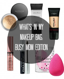 What's In My Makeup Bag Busy Mom Edition