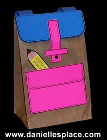 Back to school preschool crafts houston mommy and for Brown paper bag crafts for preschoolers
