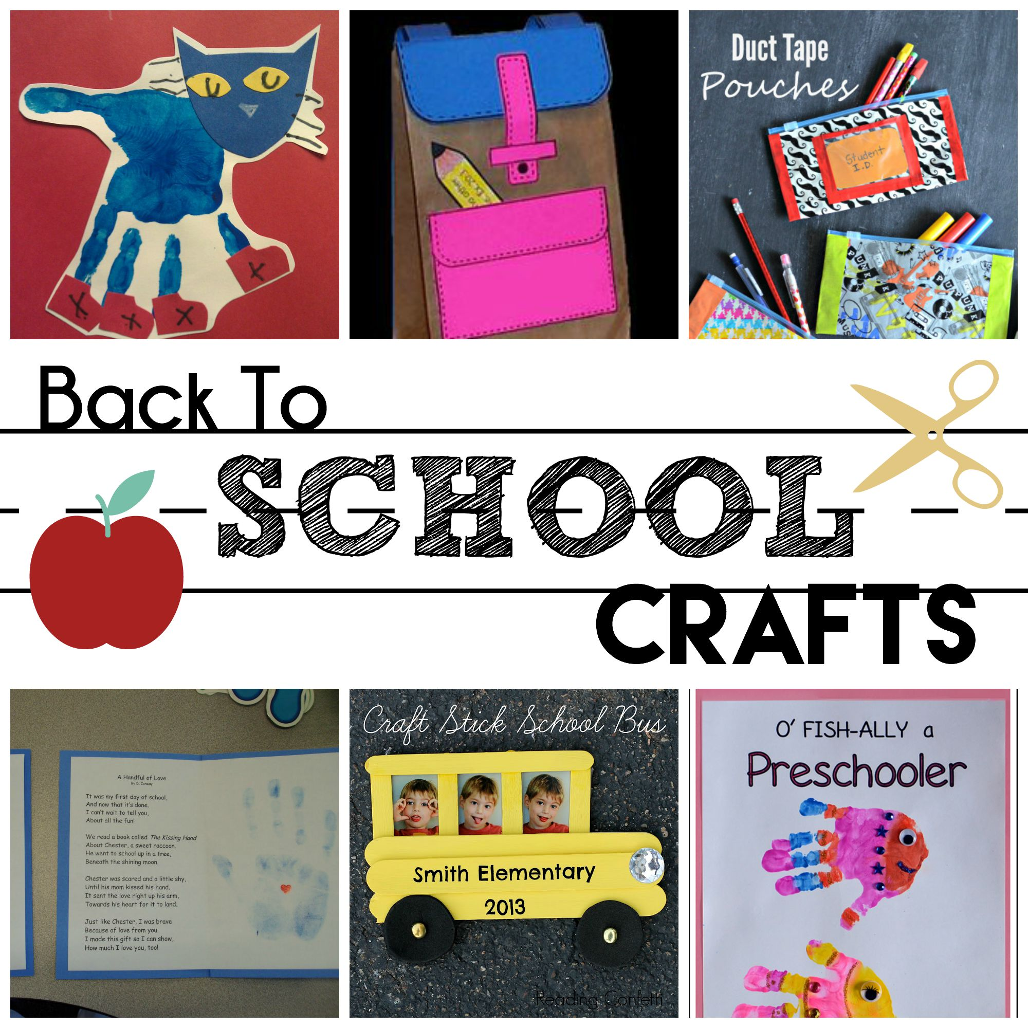 Back to school preschool crafts houston mommy and for Arts and crafts for school