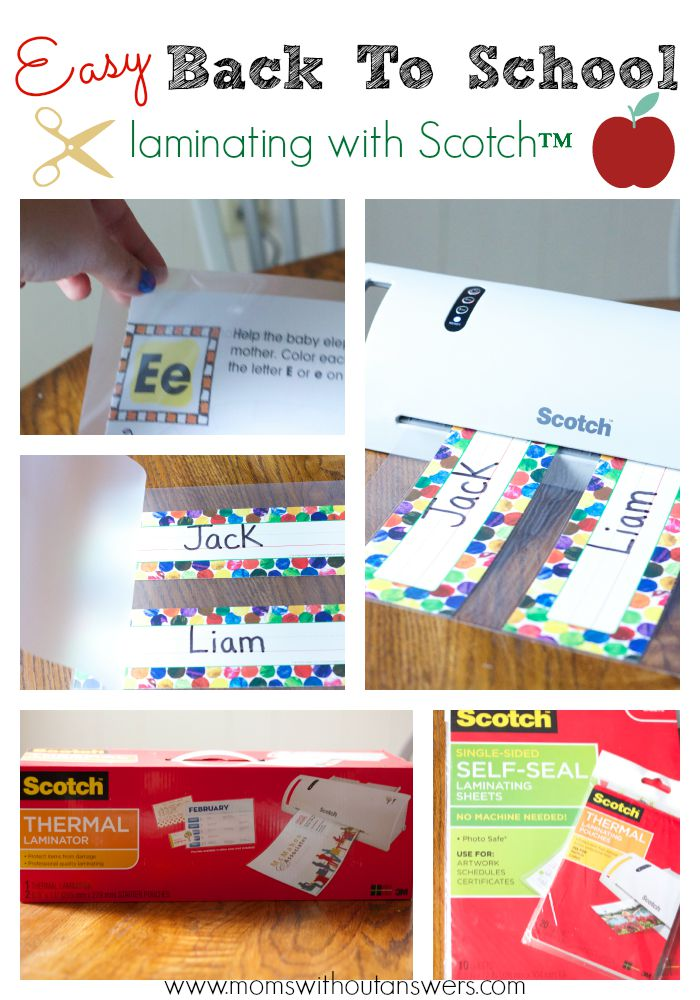 Easy Back To School Laminating with Scotch™