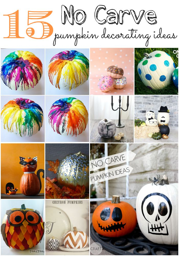 15 no carve pumpkin decorating ideas  moms without answers