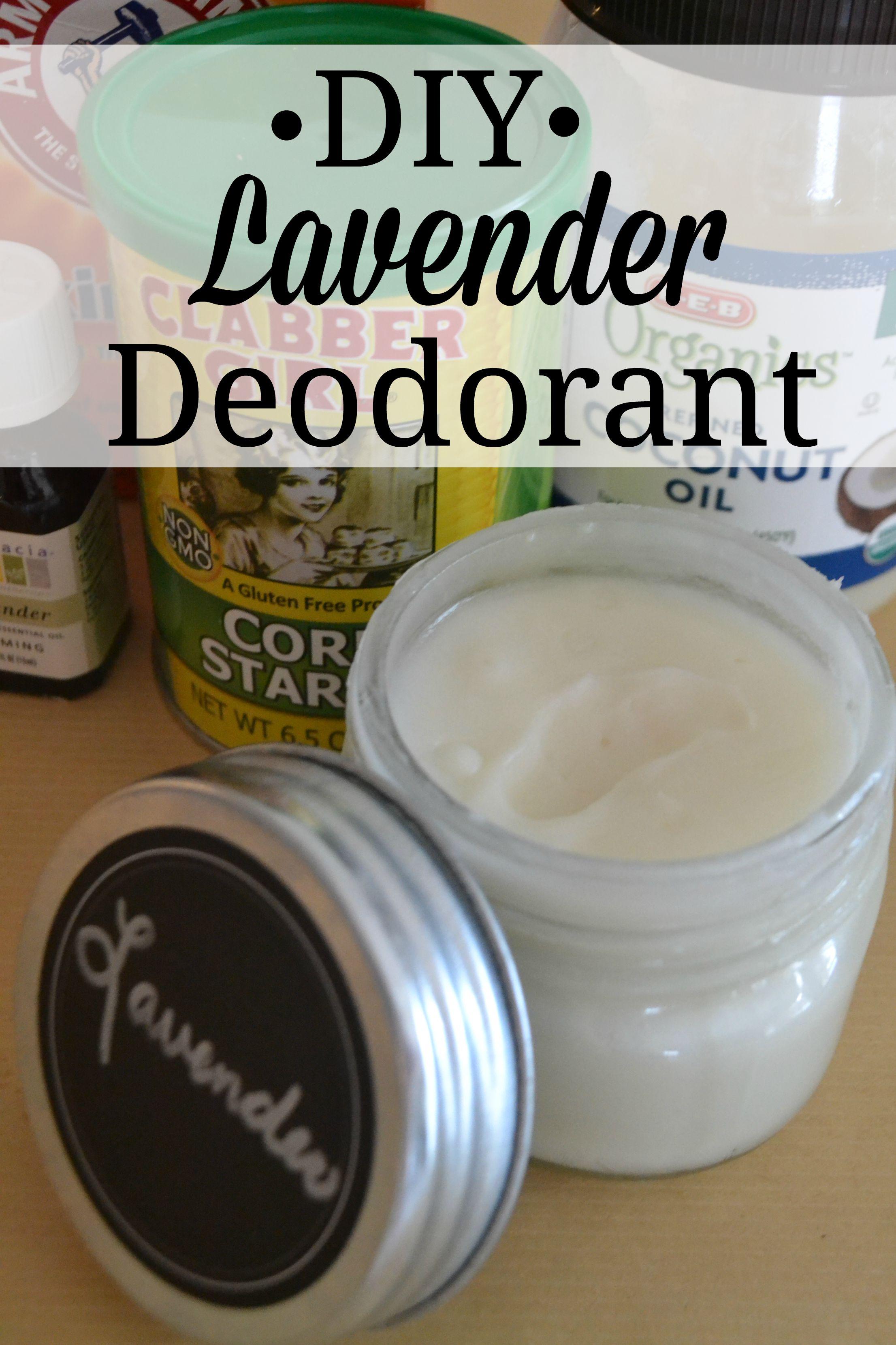 DIY Lavender Deodorant