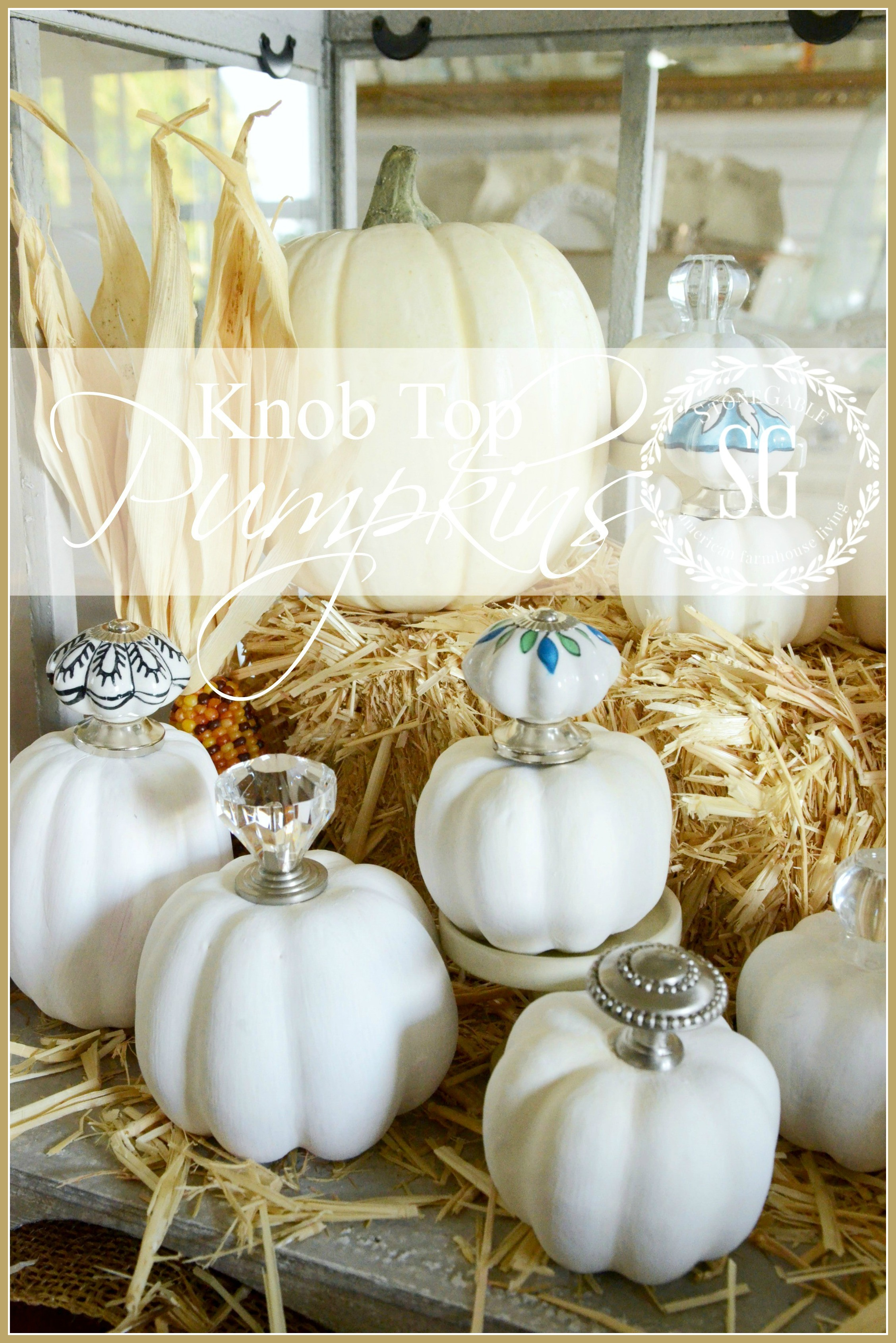 KNOB-TOP-PUMPKINS