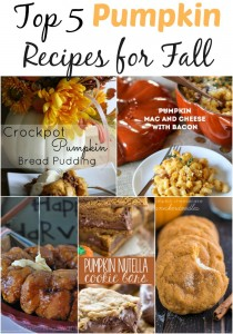 Top 5 Pumpkin Recipes for Fall