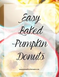 Easy Baked Pumpkin Donuts