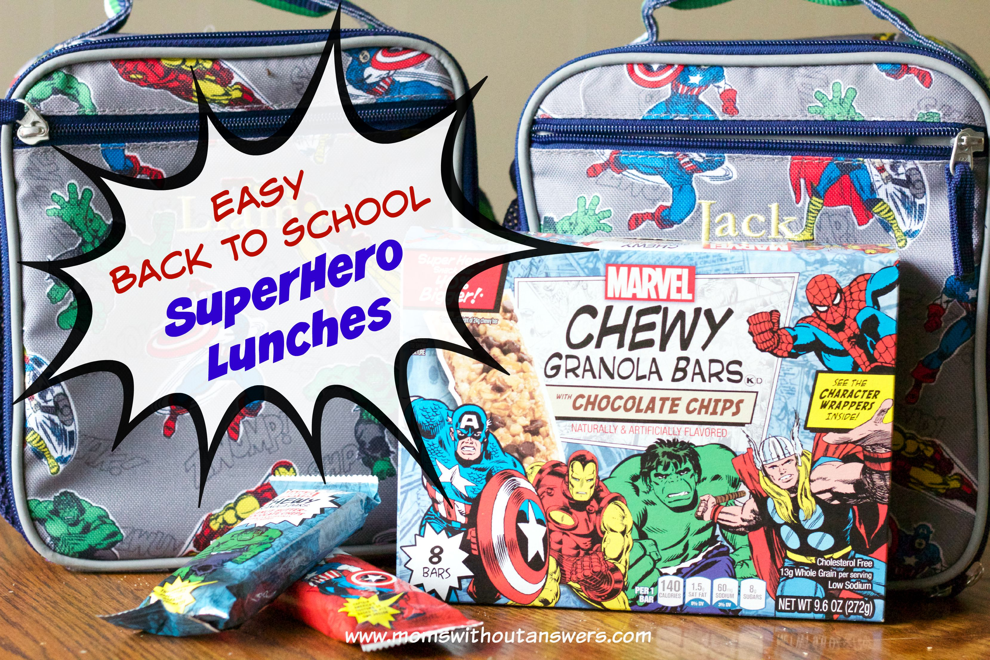 Easy Back To School SuperHero Lunch