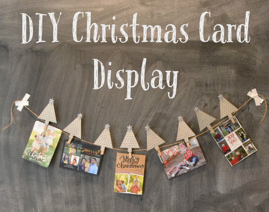 Diy christmas card display moms without answers for Pinterest diy christmas cards