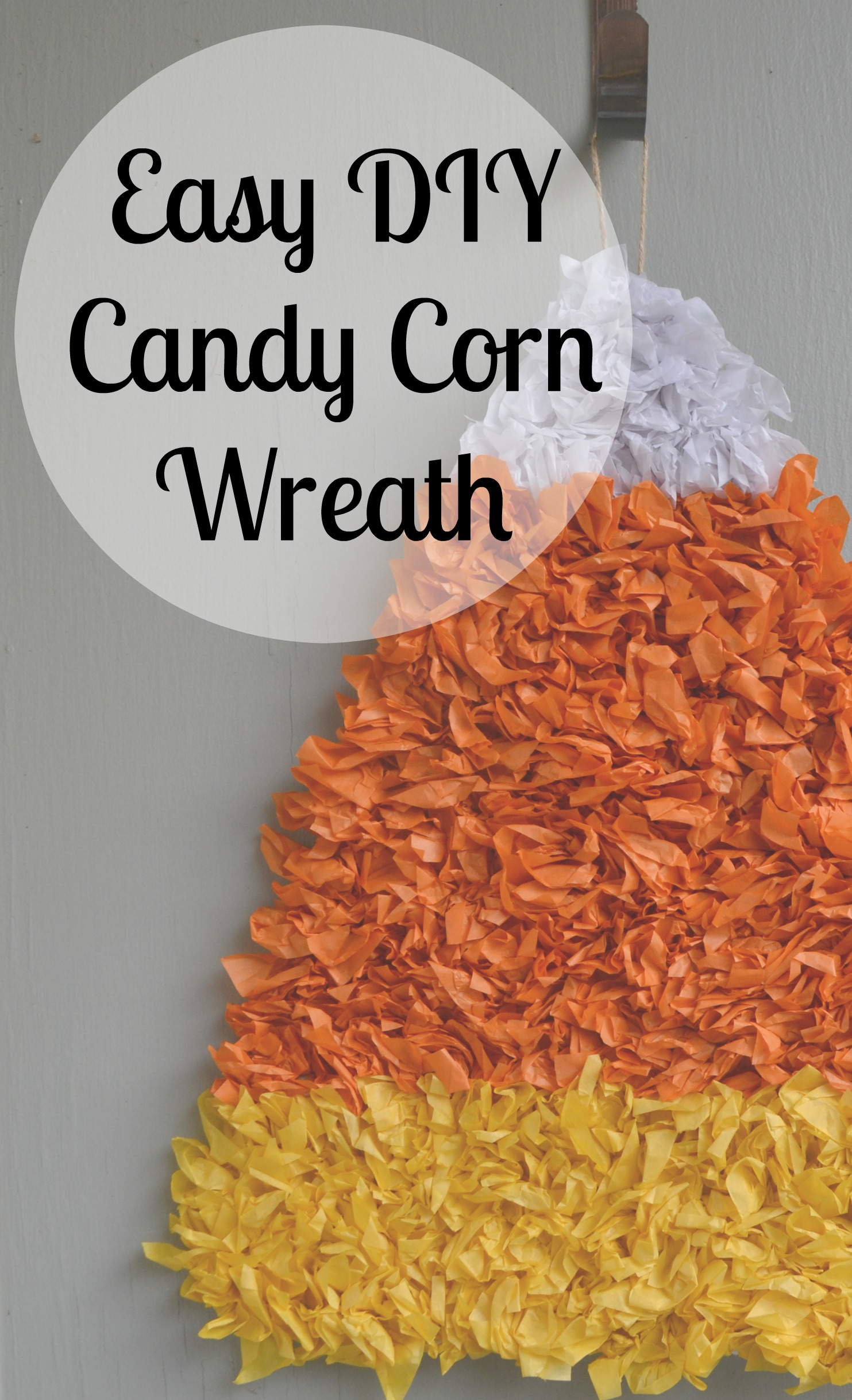 Easy DIY Candy Corn Wreath