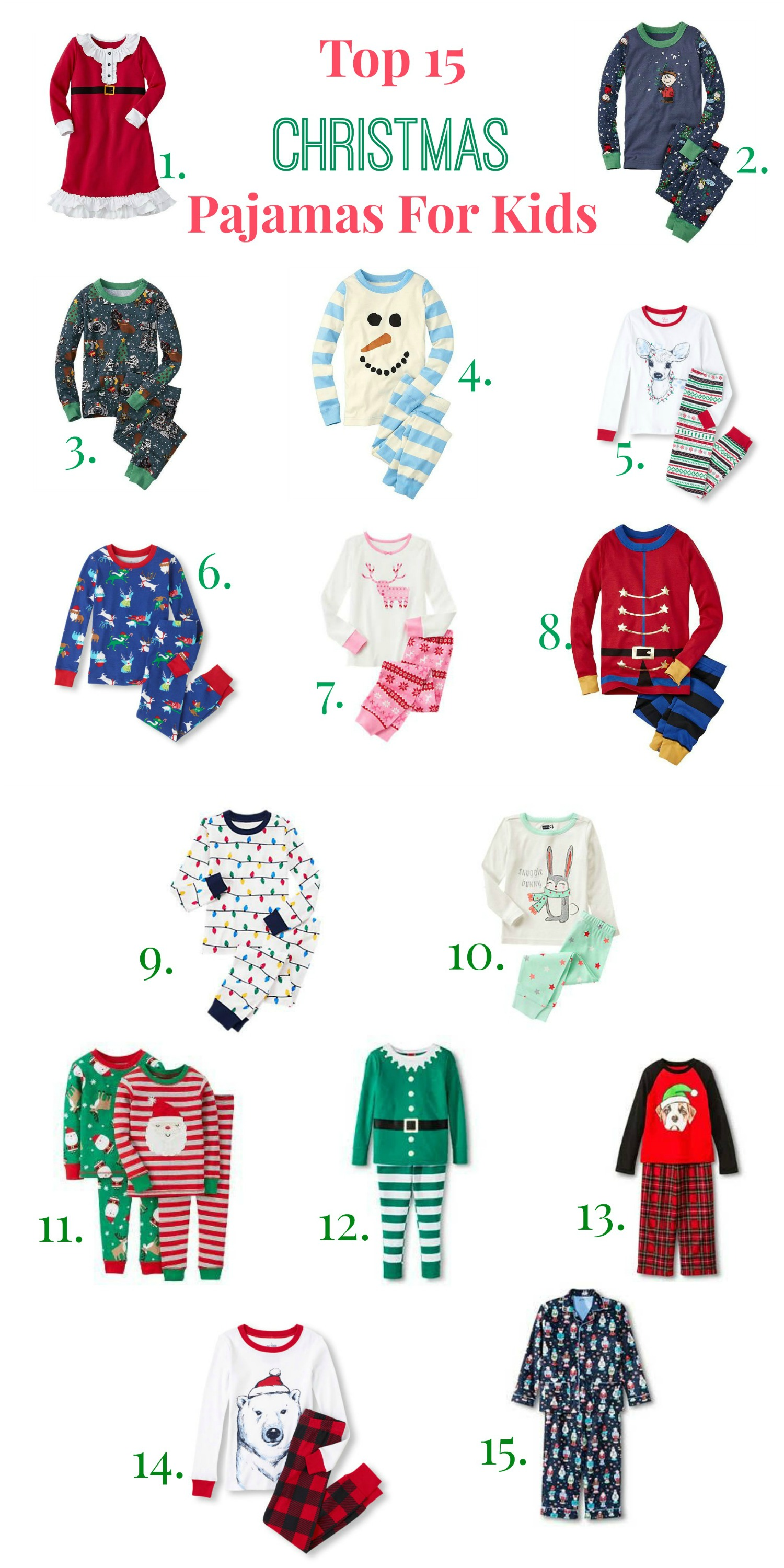 Top 15 Christmas Pajamas for Kids This Year