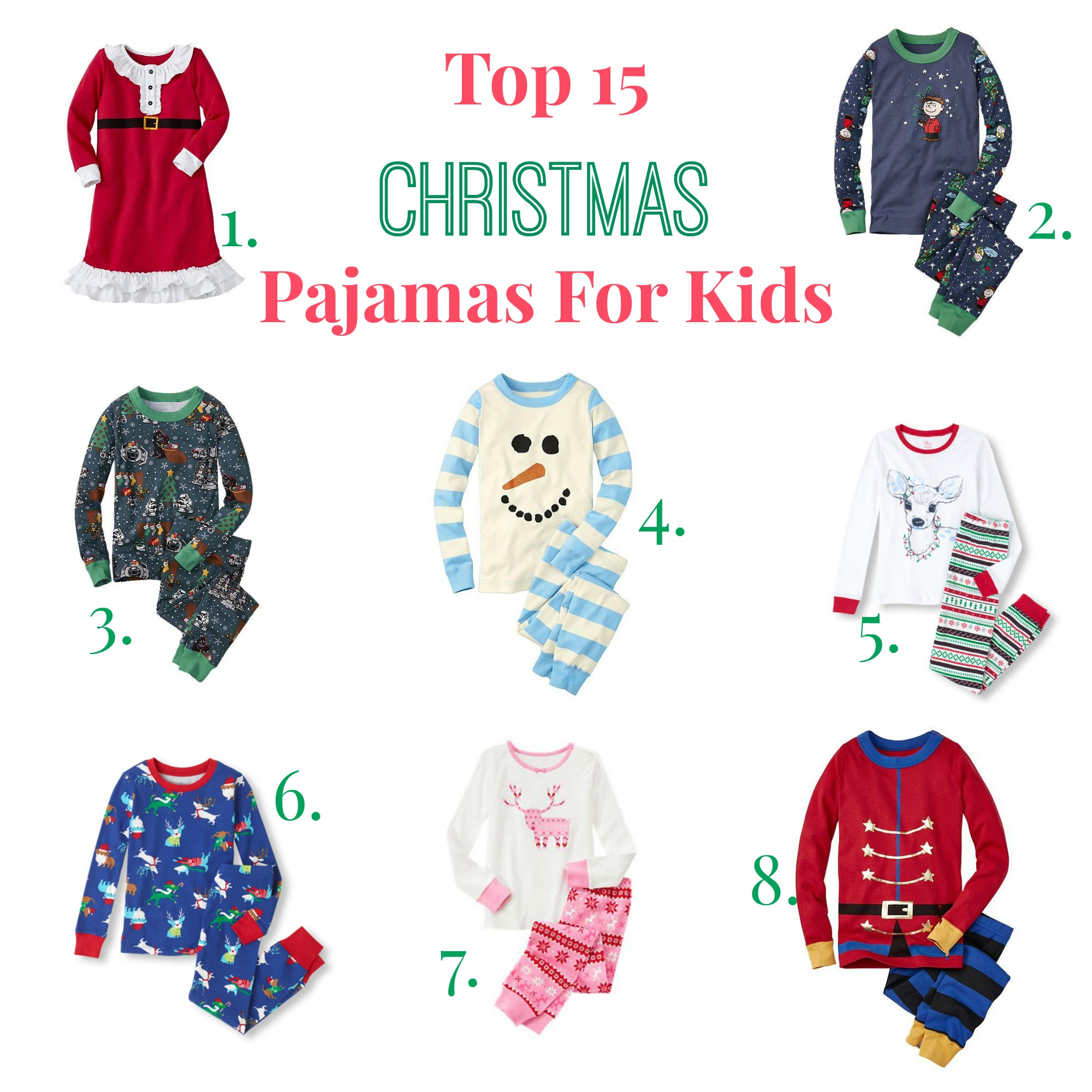 Top 15 Christmas Pajamas for Kids