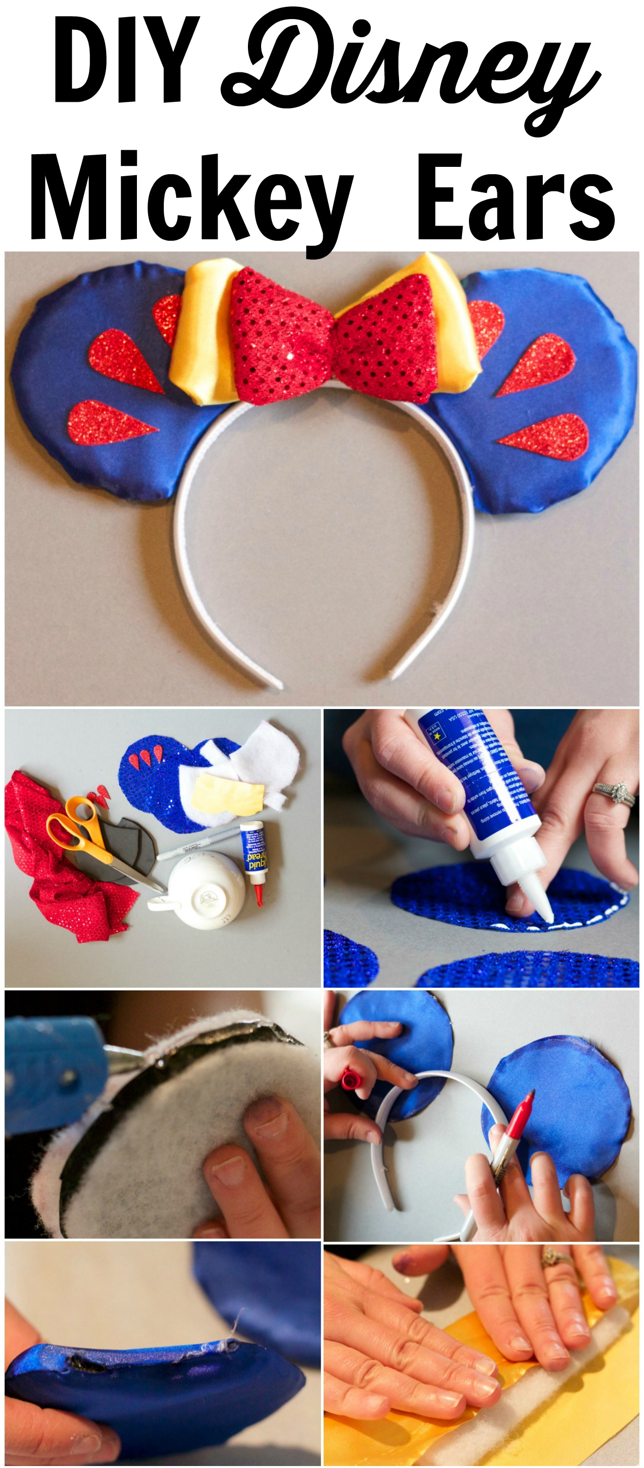 DIY Easy No Sew Disney Mickey Ears