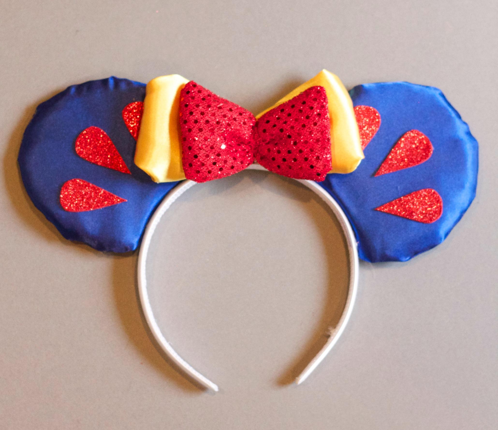 DIY Snow White Mickey Ears