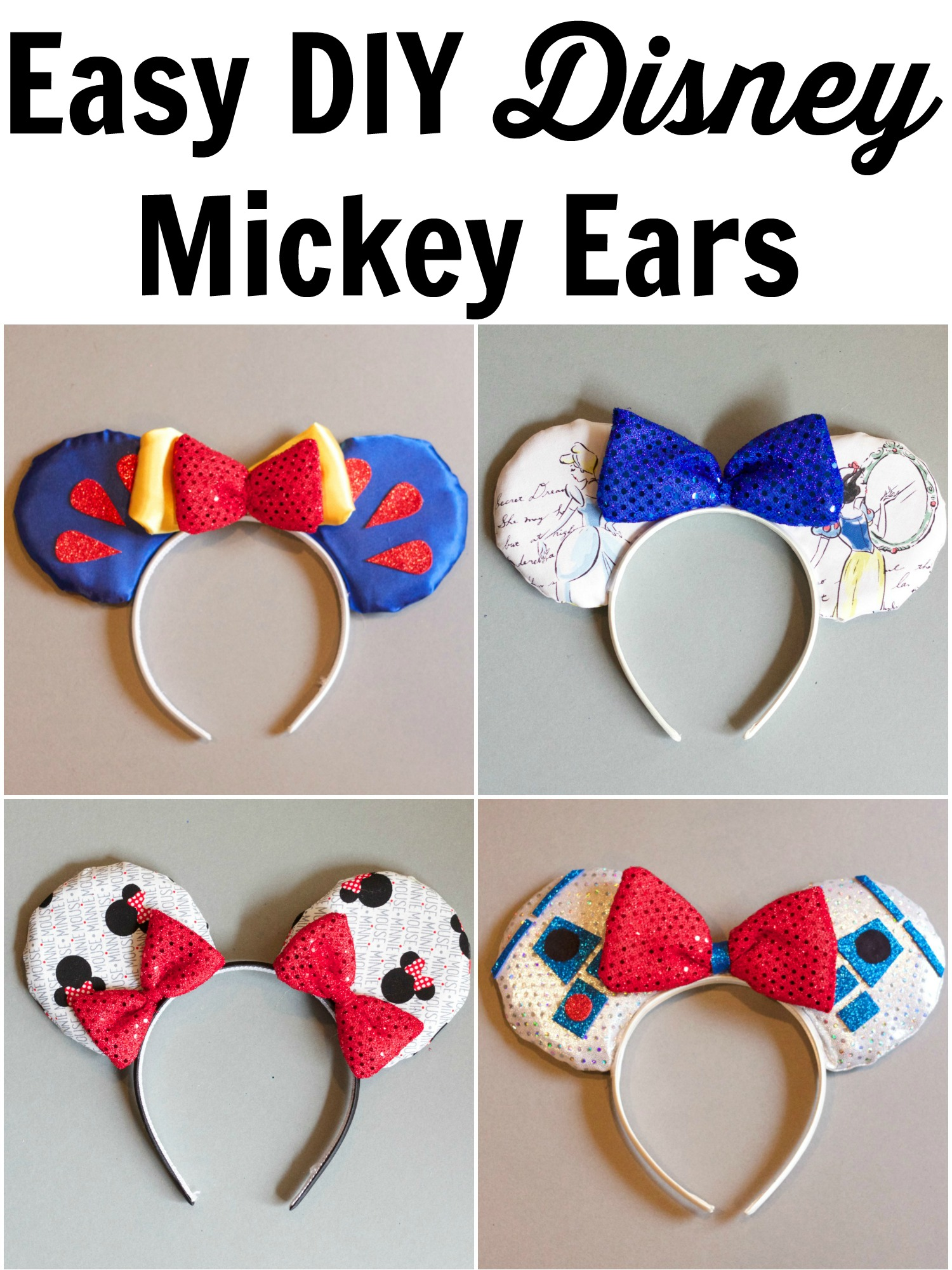 DIY No SEW Mickey Ears