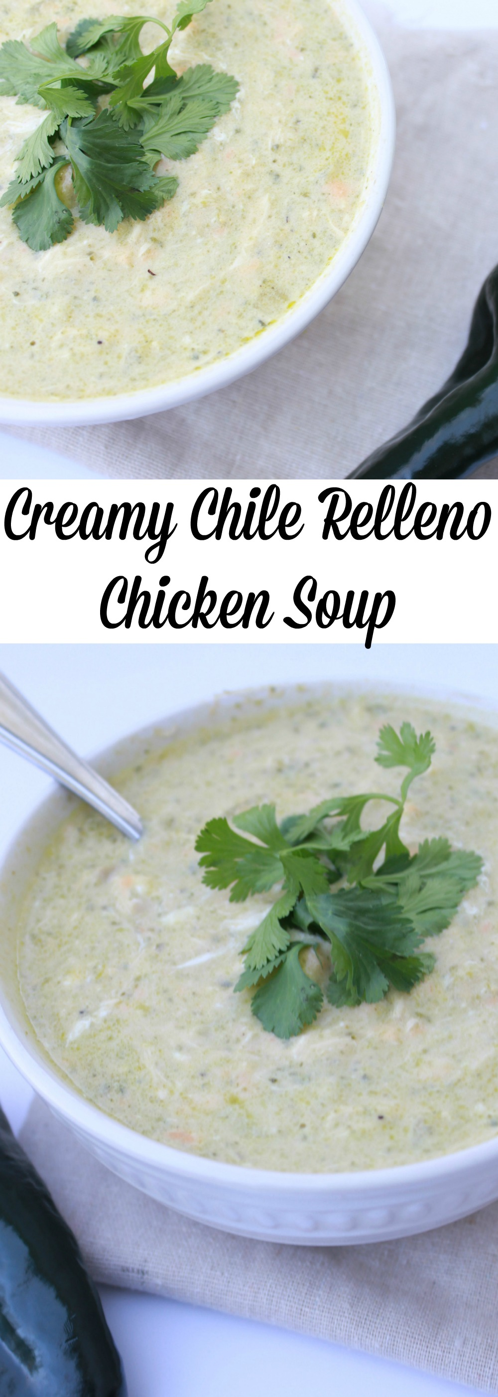 Creamy Chile Relleno Chicken Soup - Moms Without Answers