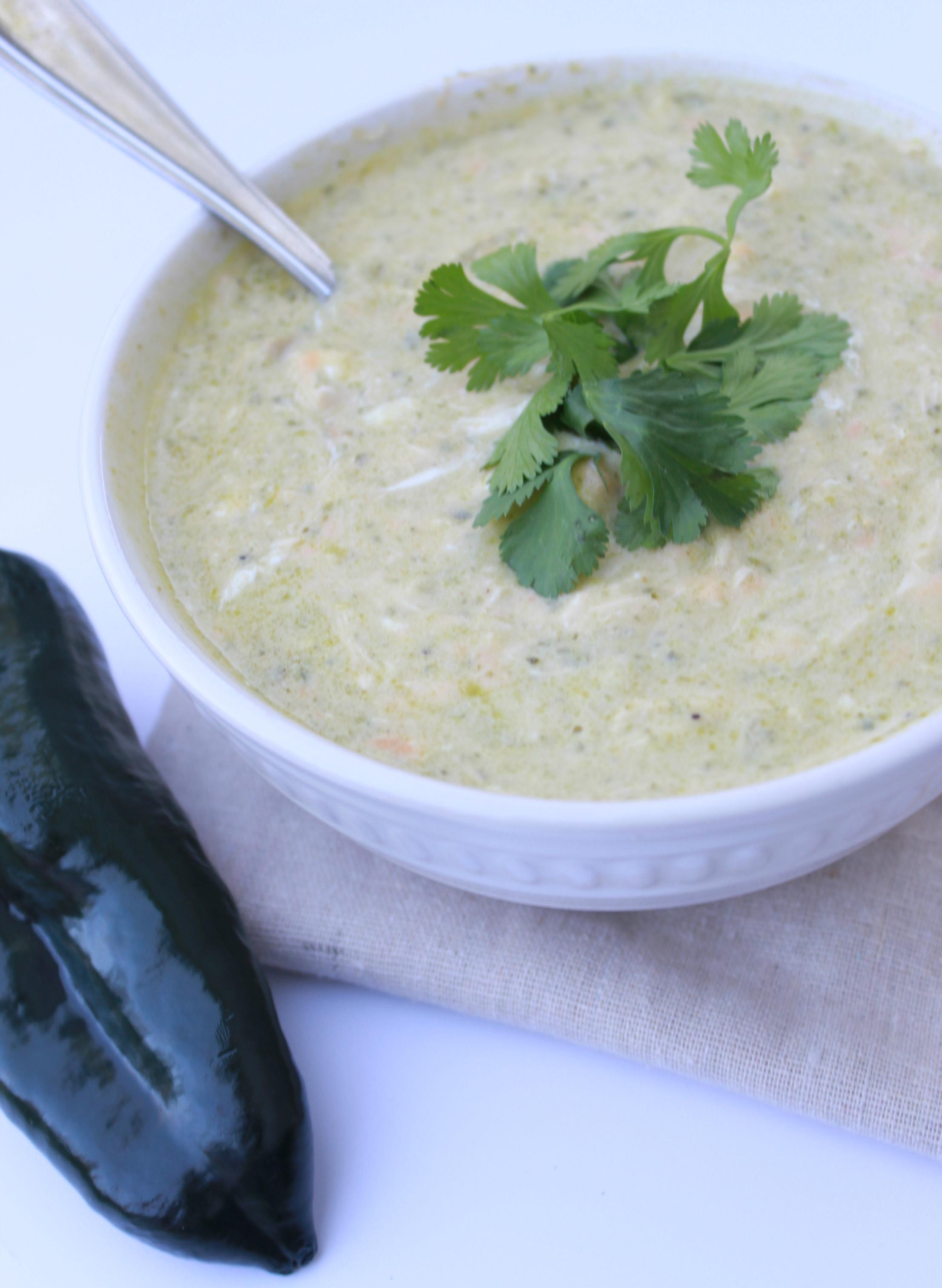 Creamy Chile Relleno Chicken Soup