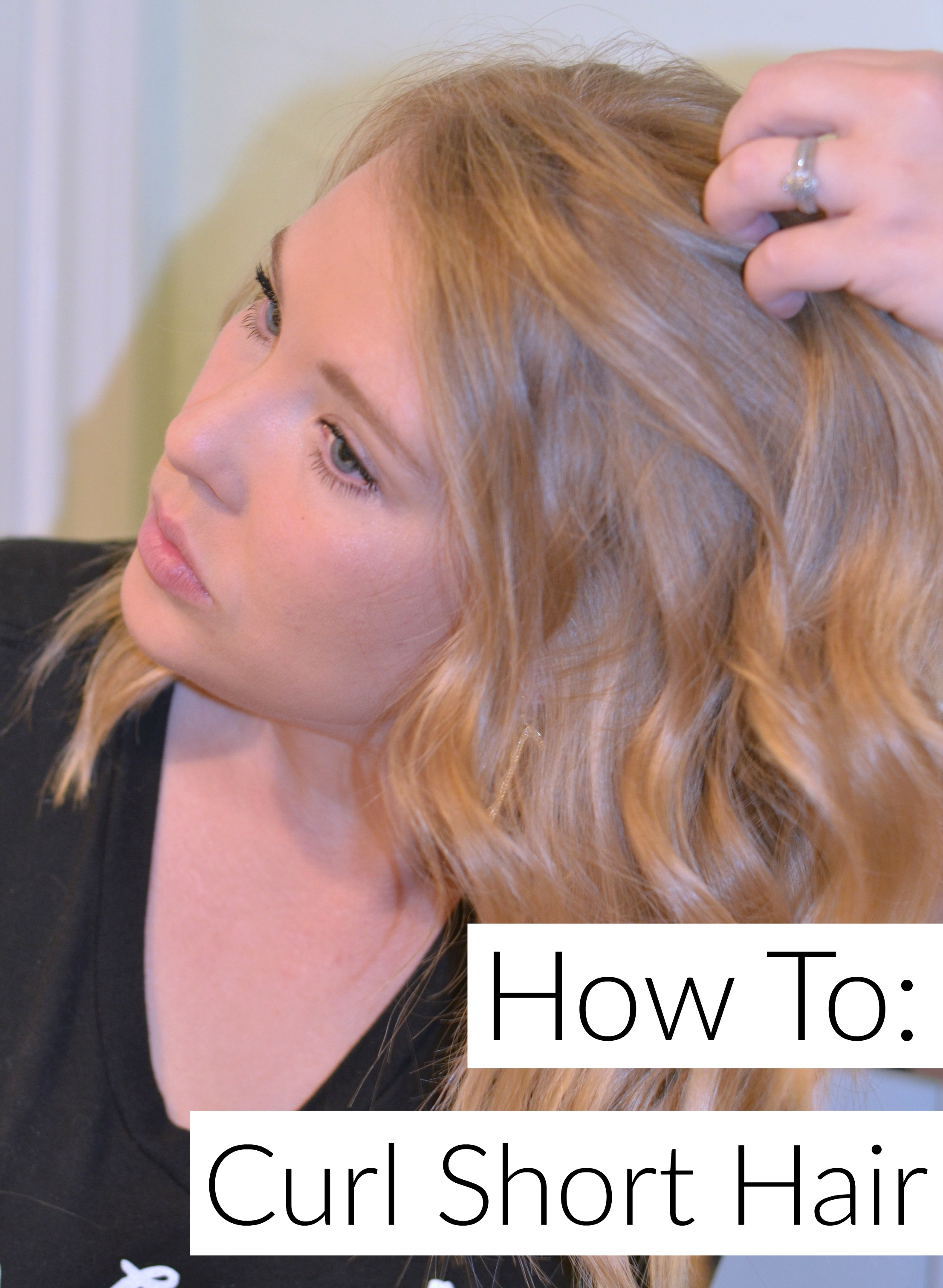 How to Curl Short Hair- This tutorial is simple and very easy to follow.