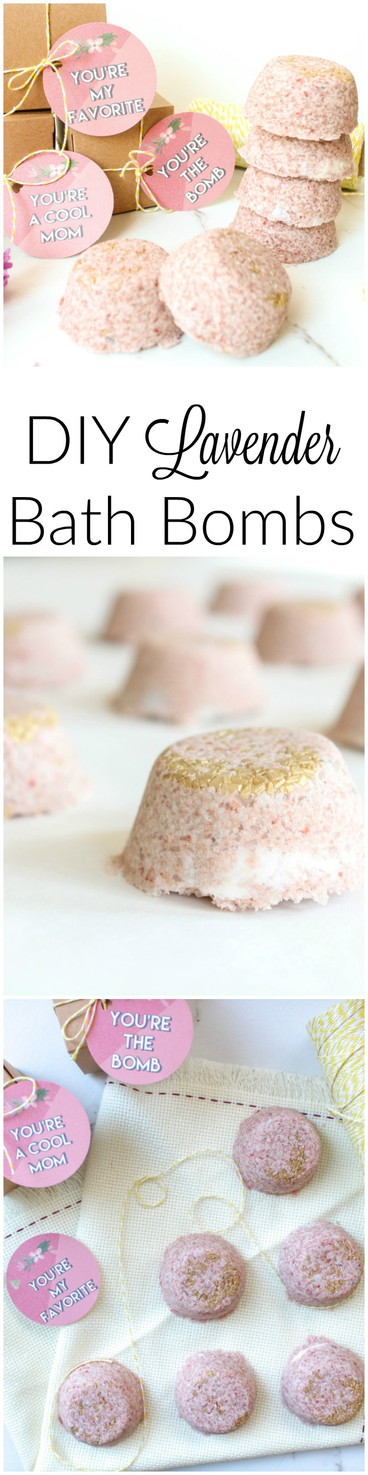 DIY Lavender Bath Bomb! If you are looking for the perfect mother's day gift, these DIY Bath Bombs are perfect. They smell delicious and any Mom will love them!