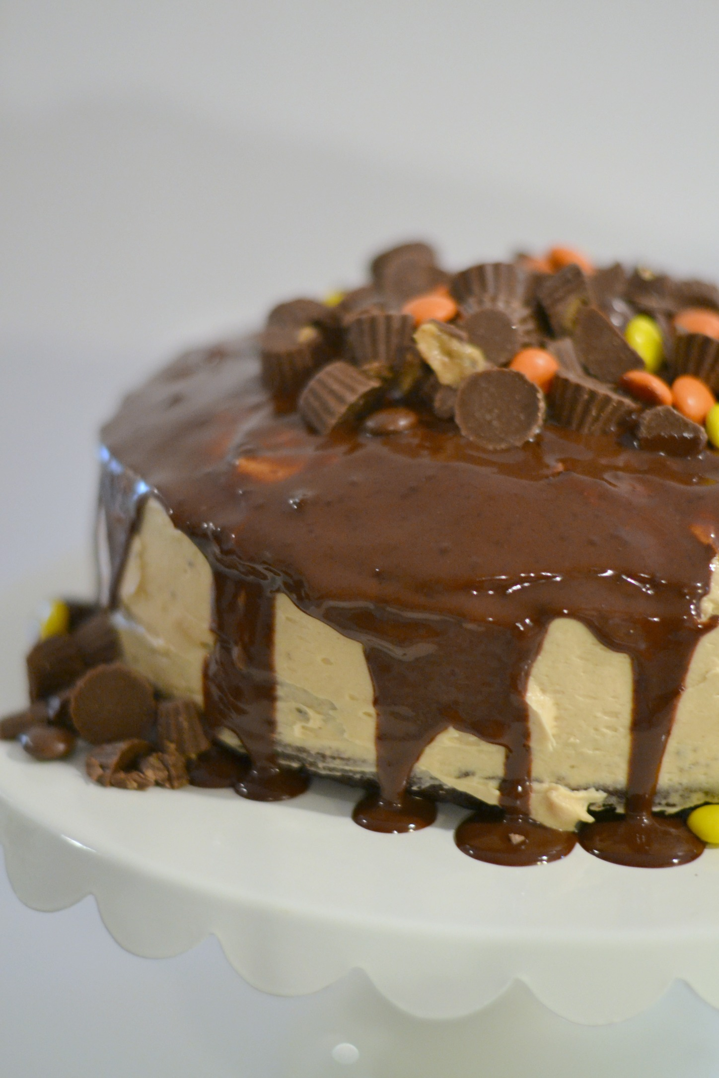 Inside Out Reese's Poke Cake 2