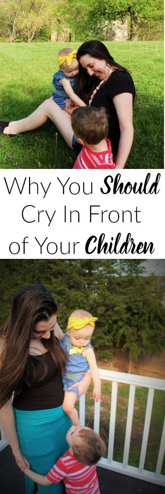 We moms always try to remain strong but sometimes it's ok to show our children our weaknesses. This post is such an encouragement. All moms should read this!n