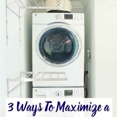 3 Ways To Maximize a Tiny Laundry Room