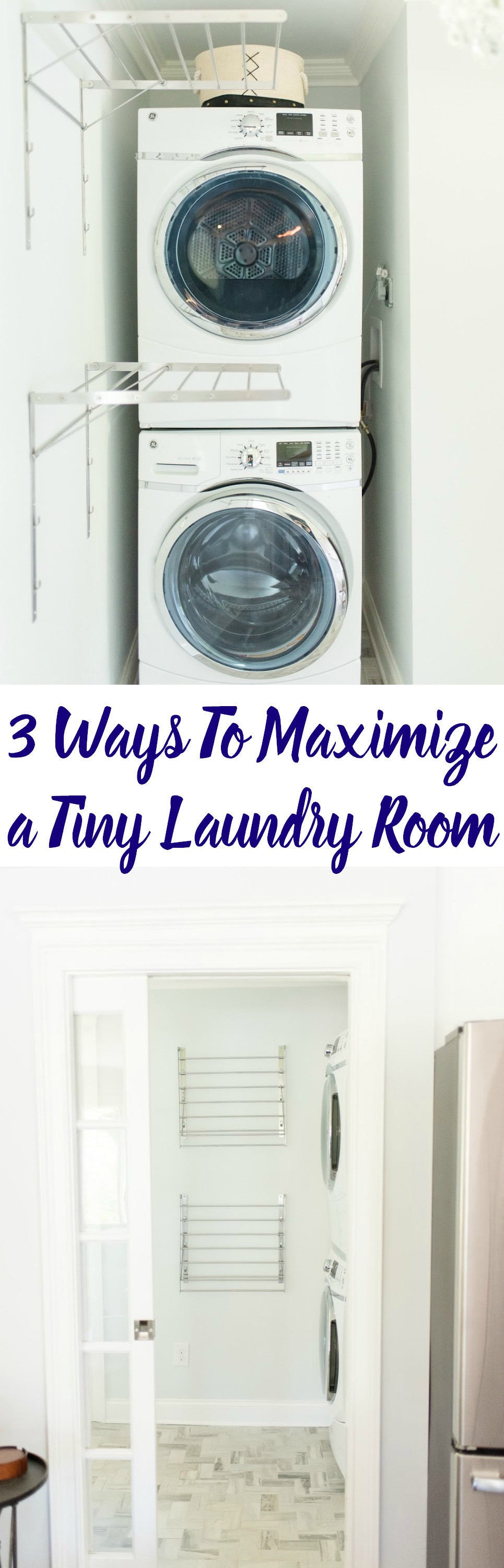 3 Ways To Maximize a Tiny Laundry Room. Great tips on maximizing the space in your home.